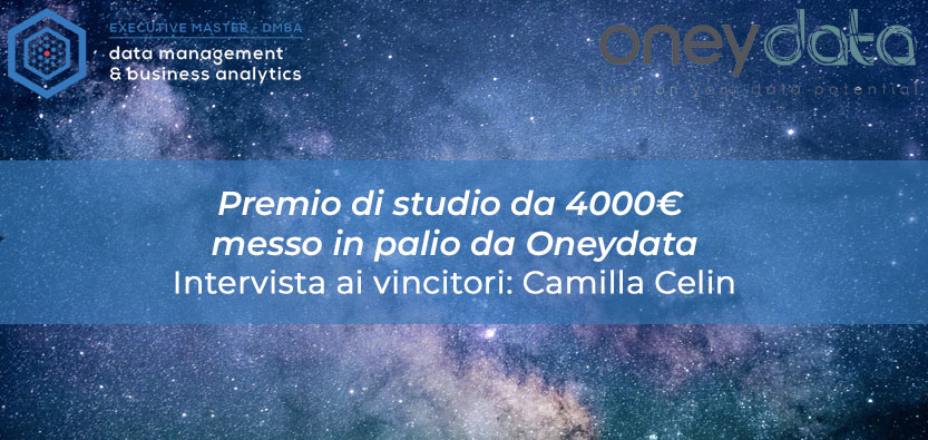 I vincitori del Premio di Studio messo in palio da Oneydata: intervista a Camilla Celin
