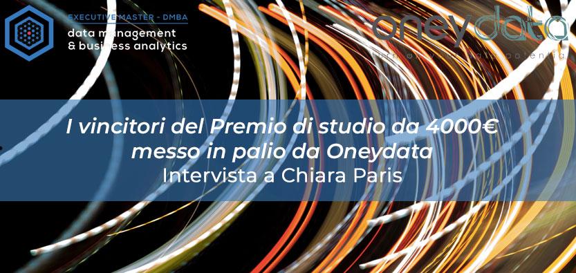 Intervista ai vincitori del Premio di Studio da 4000€ messo in palio da Oneydata: Chiara Paris